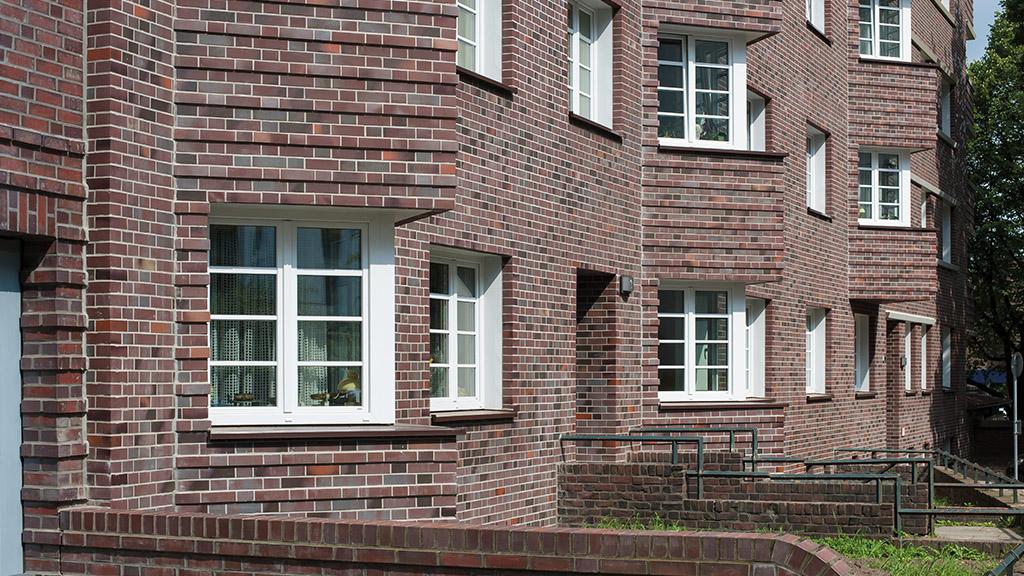 ABC-Klinker Referenzen Klinkerriemchen Sonderbrand Wohnanlage Buchsbaumweg Hamburg