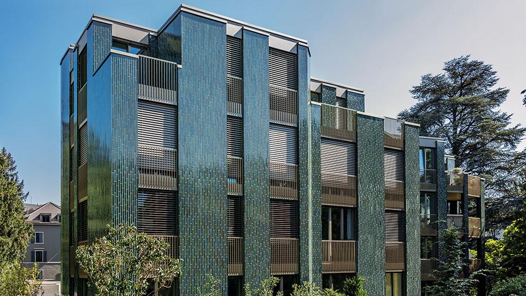 ABC-Klinker Referenzen Klinkerriemchen Sondersortierung Wohngebäude Steinwies Zürich-Hottingen in der Schweiz