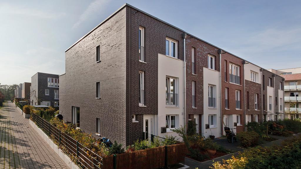 ABC-Klinker Referenzen Klinkerriemchen verschiedene Sortierungen Markona Wohnpark in Köln-Neuherenfeld