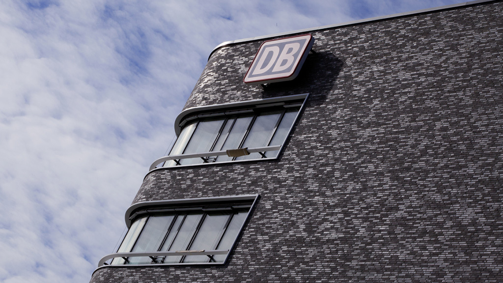 ABC-Klinker Referenzen Verblendklinker Atlantis grau-anthrazit DB Deustche Bahn Zentrale in Hamburg
