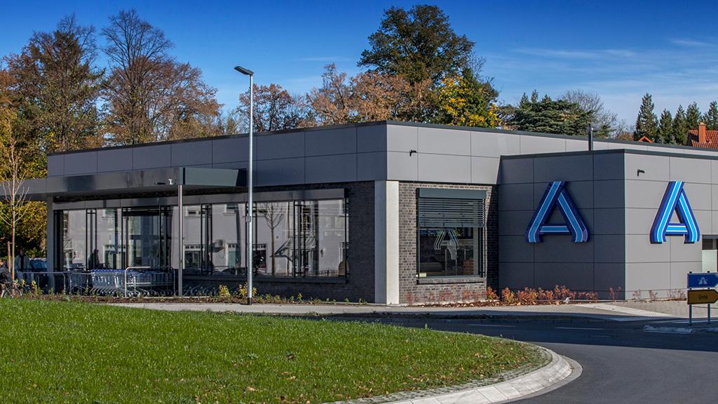 ABC-Klinker Referenzen Verblendklinker Vulkano ALDI Markt in Werne