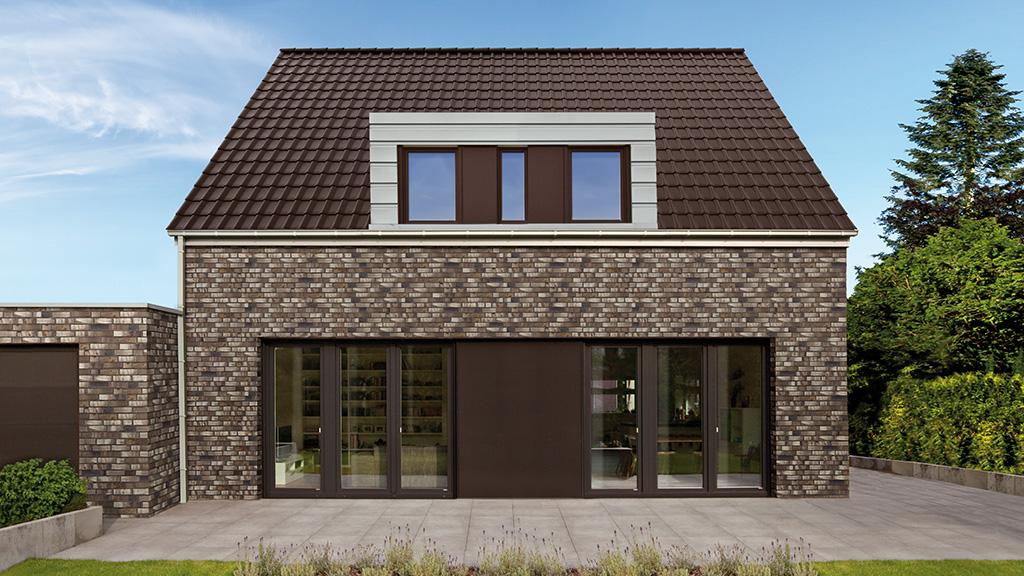ABC-Klinker Referenzen Dachziegel Teuto-Flachdachziegel Modena 11 Palisander-braun Objekt Einfamilienhaus