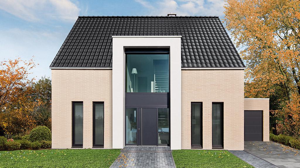 ABC-Klinker Referenzen Dachziegel Teuto-Flachdachziegel Modena 11 Diamantschwarz-glänzend Objekt Einfamilienhaus