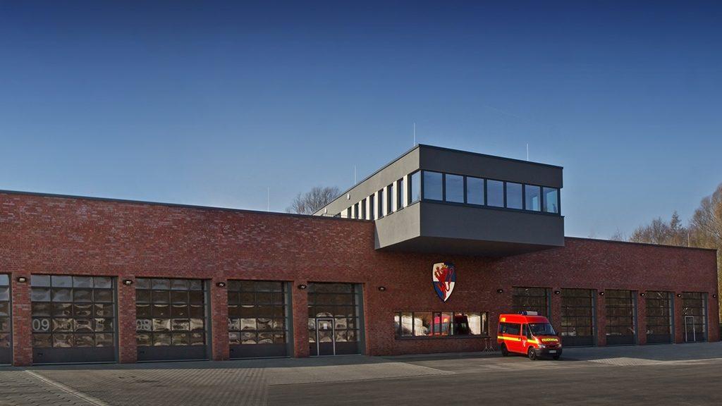ABC-Klinker Referenzen Verblendklinker Brandenburg rot-bunt Feuerwache in Horstmar