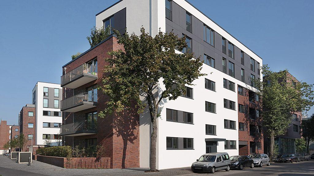 ABC-Klinker Referenzen Verblendklinker Mischsortierung Baltrum und Brandenburg Stahltwiete Hamburg