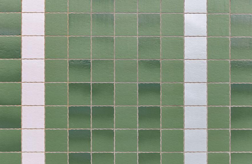 ABC-Klinker_Klinkerriemchen_Weiß und Grün-glasiert_Wohnturm Cortinghborg Groningen, Niederlande (6)